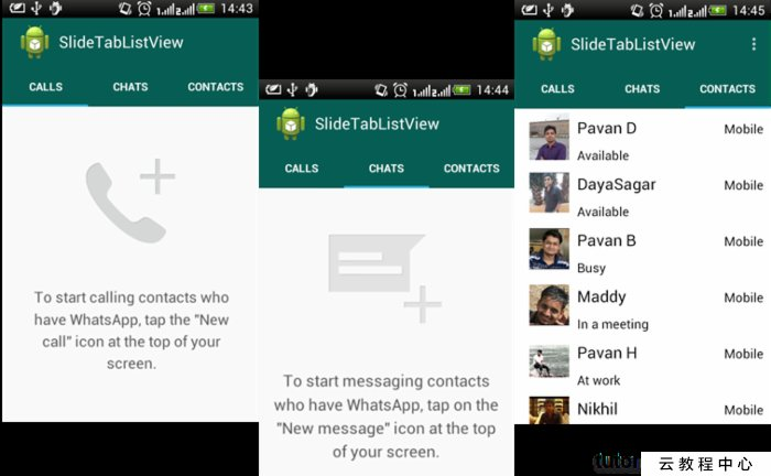 Android WhatsApp Like Material Design Sliding TabLayout With