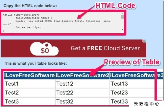 Convert Excel Tables to HTML Tables with Tableizer Free