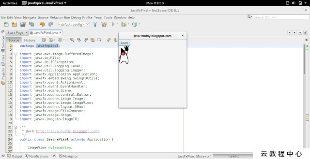JavaFX FileChooser to open image file, and display on ImageView, run