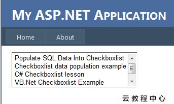 How to Bind Data to ListBox Control using SqlDataAdapter in