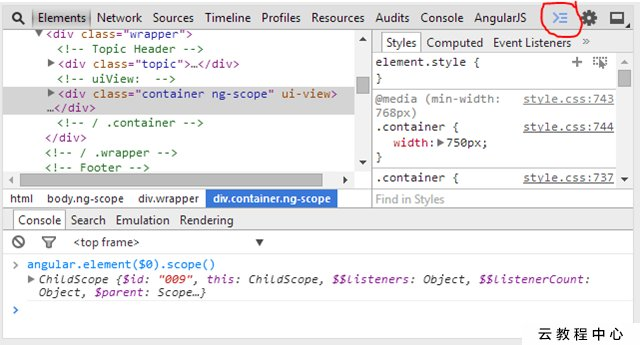 Inspecting AngularJS $scope using Firebug and Chrome Developer