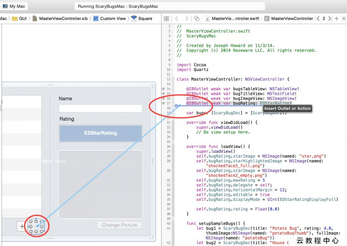 In a view-based NSTableView, the NSTextField is clipped by an NSImageView -  Stack Overflow