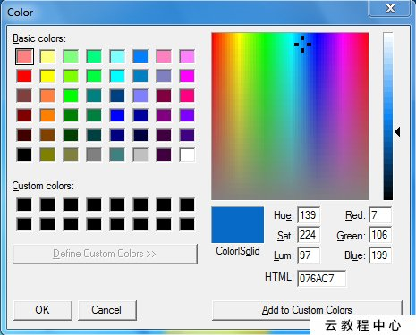 Color Picker With Magnifier To Get HTML, RGB, CMYK, HSV